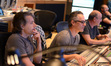 Additional music composer Buck Sanders, composer Marco Beltrami, and scoring mixer John Kurlander