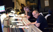 Additional music composers Brandon Roberts and Buck Sanders with scoring mixer John Kurlander