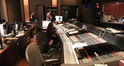 The booth at Warner Bros. with ProTools recordist Larry Mah (far left), scoring mixer Greg Hayes (seated, center), and stage recordist Tom Hardisty (standing, center)