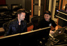 Composer Brian Tyler and Jake Kill the Noise Stanczak work on a cue