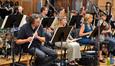 The woodwinds rest during flutist Steve Kujala's solo
