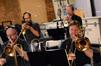 Trumpets Dan Rosenboom & Jon Lewis and trombonists Alex Iles & Steve Holtman