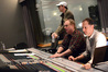 Director Seth MacFarlane, composer Joel McNeely, and scoring mixer Richard Breen