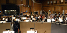 Conductor Tim Davies and the orchestra perform on <i>Muppets Most Wanted</i>