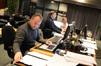 Music Editor Matt Shelton, ProTools recordist Vinni Cirilli, and score technical assistant Erick DeVore