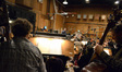 The view from the bass section as Tim Davies conducts