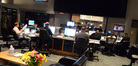 The booth watches as the strings record on <i>Need for Speed</i>