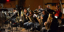 The trumpets and low brass of the Angel City Studio Orchestra