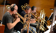 Trombonists Alex Iles, Alan Kaplan, and Bill Reichenbach