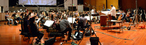 The orchestra performs the score for <i>Ride Along<i> under the baton of composer Christopher Lennertz