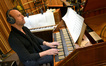 Pianist Randy Kerber plays the harpsichord