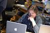 Orchestrator John Ashton Thomas works on a cue