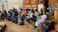 The French horns: (back row) Dylan Hart, Jonathon Johnson, Phil Yao, Allen Fogle, Danielle Ondarza, Mark Adams, (front row) Jenny Kim, Dan Kelley, Dave Everson, Steve Becknell, Andrew Bain, and Jim Thatcher