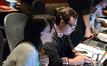 Score coordinator Andrea Datzman and composer assistant Dave Martina