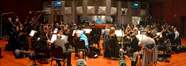 The orchestra prepares to record a cue from composer Michael Giacchino's <i>This Is Where I Leave You</i>