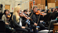 Concertmaster Bruce Dukov and the violins