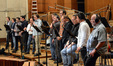 The men of the choir perform on <i>X-Men: Days of Future Past</i>