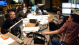 Composer John Ottman, orchestrator Rick Giovinazzo, ProTools recordist Larry Mah, scoring mixer Casey Stone, and choir conductor Jasper Randall discuss a cue