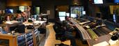 The booth at Fox: additonal music editor Stephanie Lowry, composer John Ottman, orchestrators Rick Giovinazzo and Jason Livesay, re-recording mixer Ron Bartlett, and scoring mixer Casey Stone