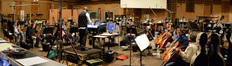 Composer Chris Lennertz and the orchestra record a cue for an episode of <i>Agent Carter</i>