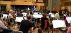 Conductor and orchestrator Pete Anthony with the orchestra on <i>Fantastic Four</i>