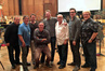 The music team on <i>Fantastic Four</i>: orchestra contractor Peter Rotter, music editor Curt Sobel, additional arranger Brandon Roberts, composer Marco Beltrami, additional arranger Marcus Trumpp, scoring mixer John Kurlander, additional arranger Miles Hankins, and orchestrator and conductor Pete Anthony