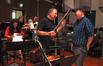 Cellist Steve Erdody talks with director Peter Sohn