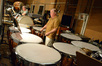 Percussionists Mike Englander and Don Williams