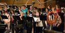 The choir records a cue on <i>Jurassic World</i>