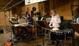 Percussionists Dan Greco, Alan Estes, Greg Goodall, and Bob Zimmitti