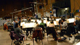 Conductor and orchestrator Pete Anthony and the orchestra record a cue