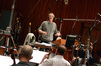 Conductor Nick Glennie-Smith is enjoying the session