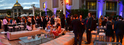 A panoramic view of the reception on the deck of the Montage