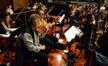 The violins perform on <i>The SpongeBob Movie: Sponge Out of Water</i> under the leadership of concertmaster Belinda Broughton