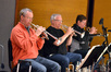 The trumpets: Jon Lewis, Malcolm McNab , and Wayne Bergeron