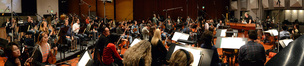 An 85-piece orchestra performs John Debney's score to <i>The SpongeBob Movie: Sponge Out of Water</i>