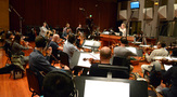 Composer Alison Plante records her piece <i>Trimountaine</i> with the Hollywood Chamber Orchestra