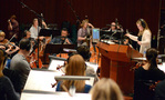 Composer Alison Plante records with the Hollywood Chamber Orchestra