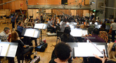 Eimear Noone conducts the Hollywood Studio Symphony strings