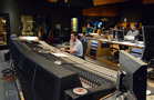 The booth inside Fox recording the score to <em>Bliss!</em>
