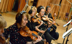 The violins perform on <em>Bliss!</em>