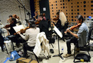 The orchestra records a cue for <i>Central Intelligence</i>