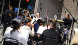 The orchestra performs with co-composer/conductor Ludwig G�ransson