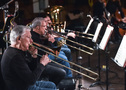 The low brass section performs