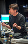 Composer Thomas Newman talks with the music team
