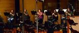 The French horns: Phil Yao, Brad Warnaar, Jenny Kim, Dan Kelley and Steve Becknell