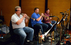 Trumpet players David Washburn, Rob Schaer, and Wayne Bergeron