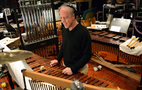 Percussionist Mike Englander performs on marimba