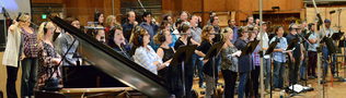 The choir performs composer John Debney's score for <i>Ice Age: Collision Course</i>