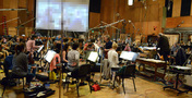 The orchestra for <em>Jack Reacher: Never Go Back</em> performs at 20th Century Fox